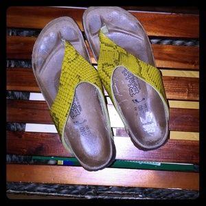 Birki's Snakeskin Print Sandals